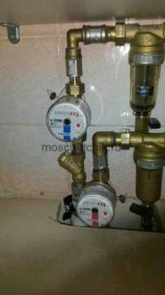 Замена счетчиков воды с дополнительными удлинителями