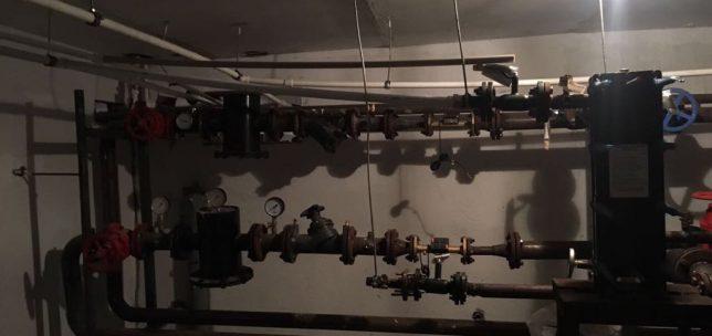 монтаж распределительного узла отопления